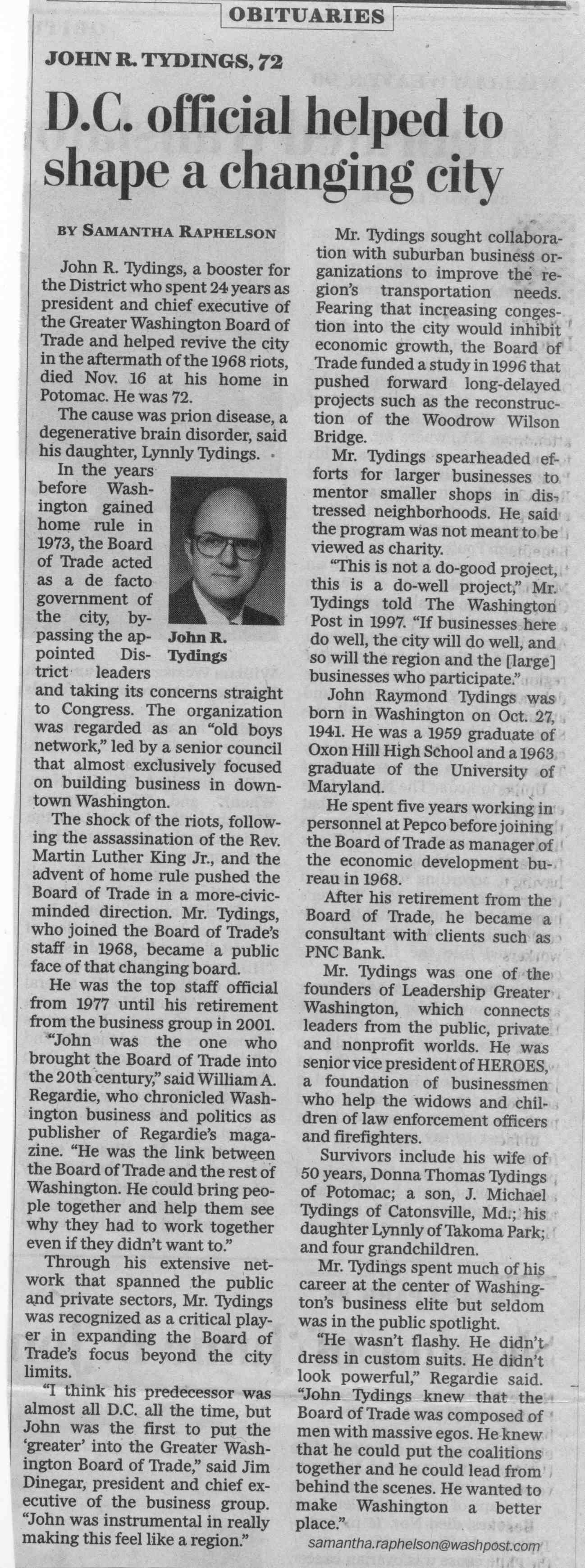 Tydings, Wash Post Article, 11-21-2013 - 001