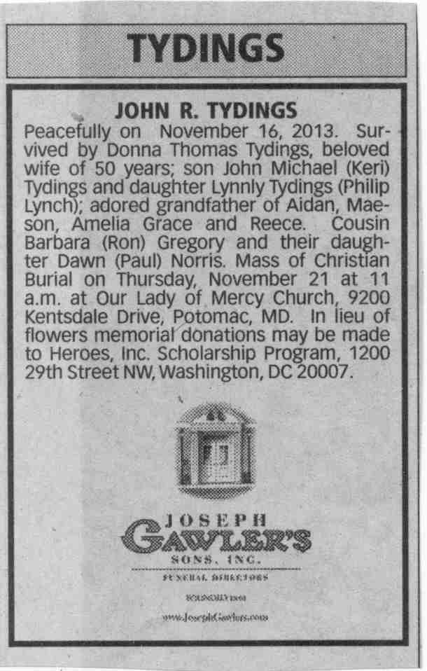 Tydings, Wash Post Obit, 11-21-2013 - 001