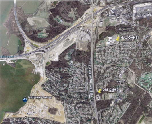 Oxon Hill, MD Arial Map (current)