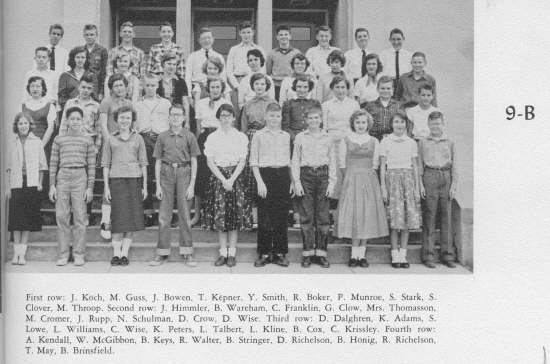 OHHS CLASS of 1959, 9-B Class Photo